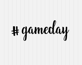 Game day Svg - svg, dxf, eps, png, Pdf - Download - Cut File, Cricut Explorer - Silhouette Cameo