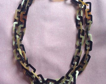 Natural Buffalo Horn Necklace, Necklace Handmade, Women Necklaces, Handmade Necklace [NHL27]