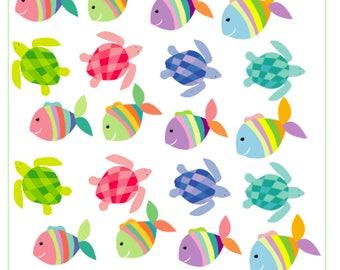 Colorful Watercolor Fish & Turtles -- 24 count, Erin Condren/Happy Planner