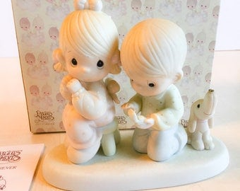 Vintage Precious Moments With This Ring I ... Figurine 104019