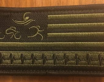 Triathlon Flag Patch