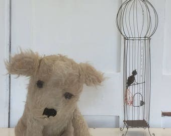 Antique Dog vintage dog toy Teddy Bear - Chiltern/Farnell RARE 1930s shabby French living