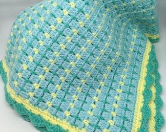 Crocheted Baby Blanket - Car Seat/Stroller