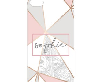 Personalised Rose Gold Pattern iphone case