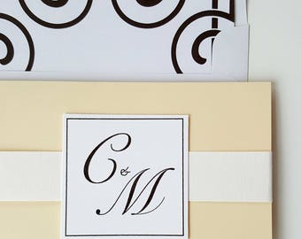 Art Deco Wedding Suite . Black and White Wedding . Ivory Wedding Suite . Timeless Wedding . Black Tie Wedding . Classic Wedding