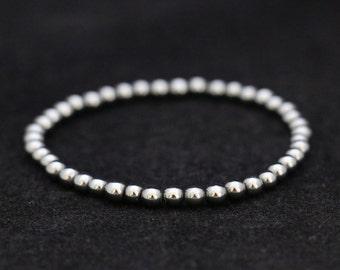 No. 8 Hematite Bracelet (Handmade)