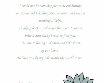 Wife Silver Anniversary Card