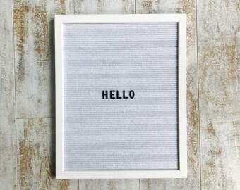 """16"""" x 20"""" White Felt White Frame Letterboard"""