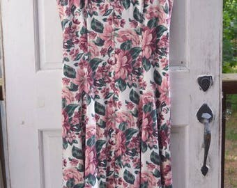Fall Maxi Dress - Floral Vintage