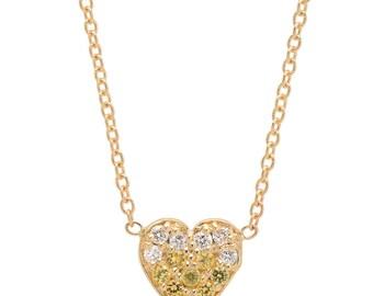 LANA Yellow Sapphire + Diamond Heart Valentine Pendant