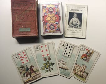 c.1920 Lenormand Fortune Telling Cards 36 Dondorf-Styled Gibson & Sons UK London