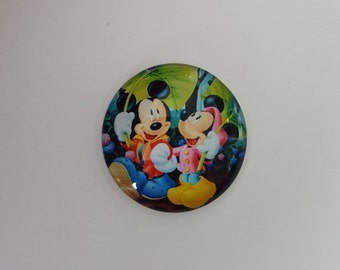 Mouse Characters Round Glass Cabochon Needle Minder / Needle Nanny