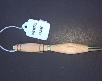 Handmade White Oak Hardwood Ink Pen