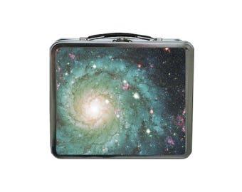 Galaxy Lunch Box, Space Lunch Box, METAL Lunch Box, Stars Lunch Box, Lunch Box for Women, Tin Lunch Box, Adult Lunchbox, Retro Lunch Box