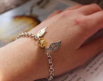 Golden Snitch bracelet | Harry Potter merch | Harry Potter jewellery | Harry Potter gift | Bookish jewellery