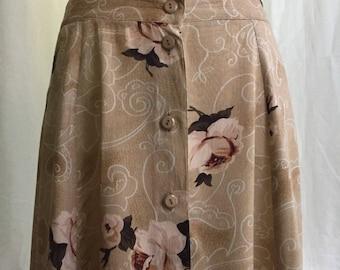Button Down Floral Maxi Skirt