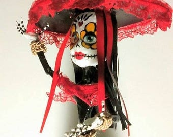 Catrina girl Papercraft, papier mache, Day of the dead