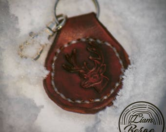 Handmade Leather Stag Key ring