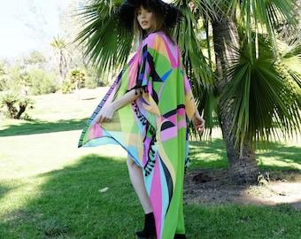 Beach Kimono, Festival Clothing, Boho Kimono, Festival Kimono, Bohemian Clothing, Kimono Robe, Kaftan Dress, EDC outfit