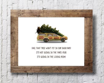 National Lampoon's Christmas Vacation - The Christmas Tree - 11x14 Christmas Holiday Home Decor Poster Sign - Griswald Movie Quote