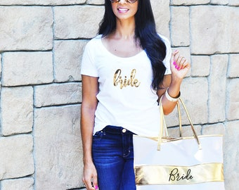 Bride T-Shirt - Bridal Party Gift - Bride Gift, Wedding Keepsake Gifts, Shower Gift, Custom Bride Gift