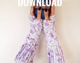Gloves Crochet Pattern PDF Download Written Pattern for Fingerless Gloves, Women's Gloves Pattern, Crochet Gift, Pattern Download, Pretty