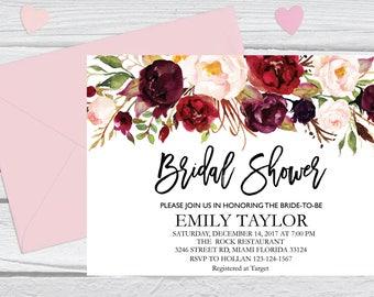 Bridal Shower Invitation, Printable Bridal Shower, Boho Bridal Shower, Instant Digital Download File, Flower Bridal, Bridal Shower Signs 7