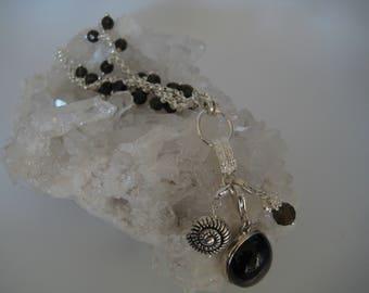 Smoky Quartz Necklace, Smoky Quartz Pendant, Brown Silver Necklace, Silver Gemstone Necklace, Designer Necklace, Necklace with Charms, gift