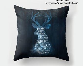 Throne of Glass Pillow, TOG Throw Pillow, Stag Pillow, Bookish Pillow, Bookish Pillow Covers, Rowaelin, Aelin, Rowan, Sarah J Maas