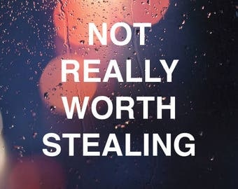 Not Really Worth Stealing Decal - Not Worth Stealing Vinyl Decals - Vinyl Decal for Car - Stealing Sticker - Stealing Art - Stealing Decals