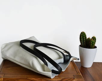 White leather tote bag - Large leather tote - Full grain leather tote - Tote bag leather - Tote bag - Tote woman - Leather Bag - VERONA Bag