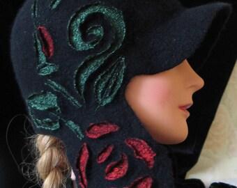 Woolen hat female Zhenkie caps felted Hat women's Handmade hat Youth