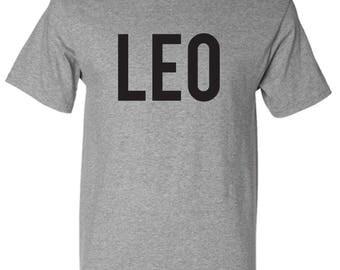Leo Zodiac Unixes Men and Women Crew neck Custom T-Shirt