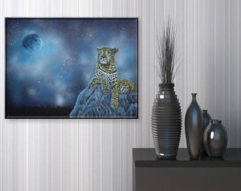 Leopard | Fantasy painting acrylic painting mural