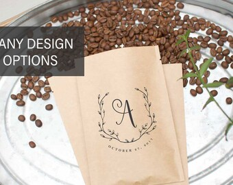 His Hers Wedding Favors-His Her Favorite-Coffee Favor Bags-Wedding Favor Labels-Private Labeled Coffee Beans-Coffee Favors Wedding Favors