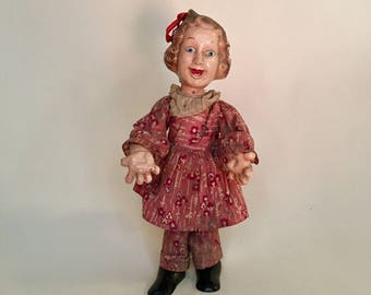 FANNY BRICE DOLL - Baby Snooks - Flexy Ideal Doll - 1930s, incredible doll, creepy doll, check out the legs and arms!
