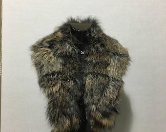 Elegant Fashion  Fox Fur Collar