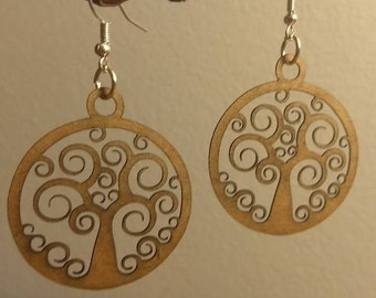 Delicate Tree of Life Earrings