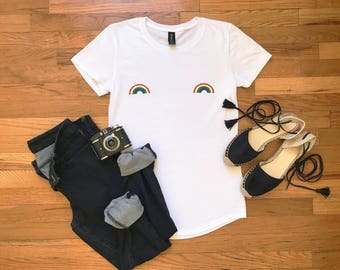 Rainbow Equality Tshirt - rainbow shirt - feminist shirt - feminism - feminist apparel - woke - lgbtqia - intersectional feminist