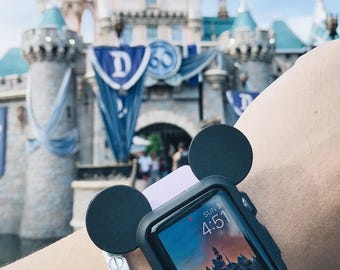 Mickey Mouse Ear Iwatch Case Disney Apple Watch Cover Disneyland Case Band Women Strap 38mm 42mm apple watch Series 2, Series 1 Series 3
