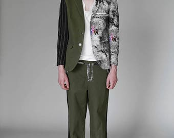 Giacca uomo unisex blazer stampata stampa designer print Men's Jacket Urban fantasia
