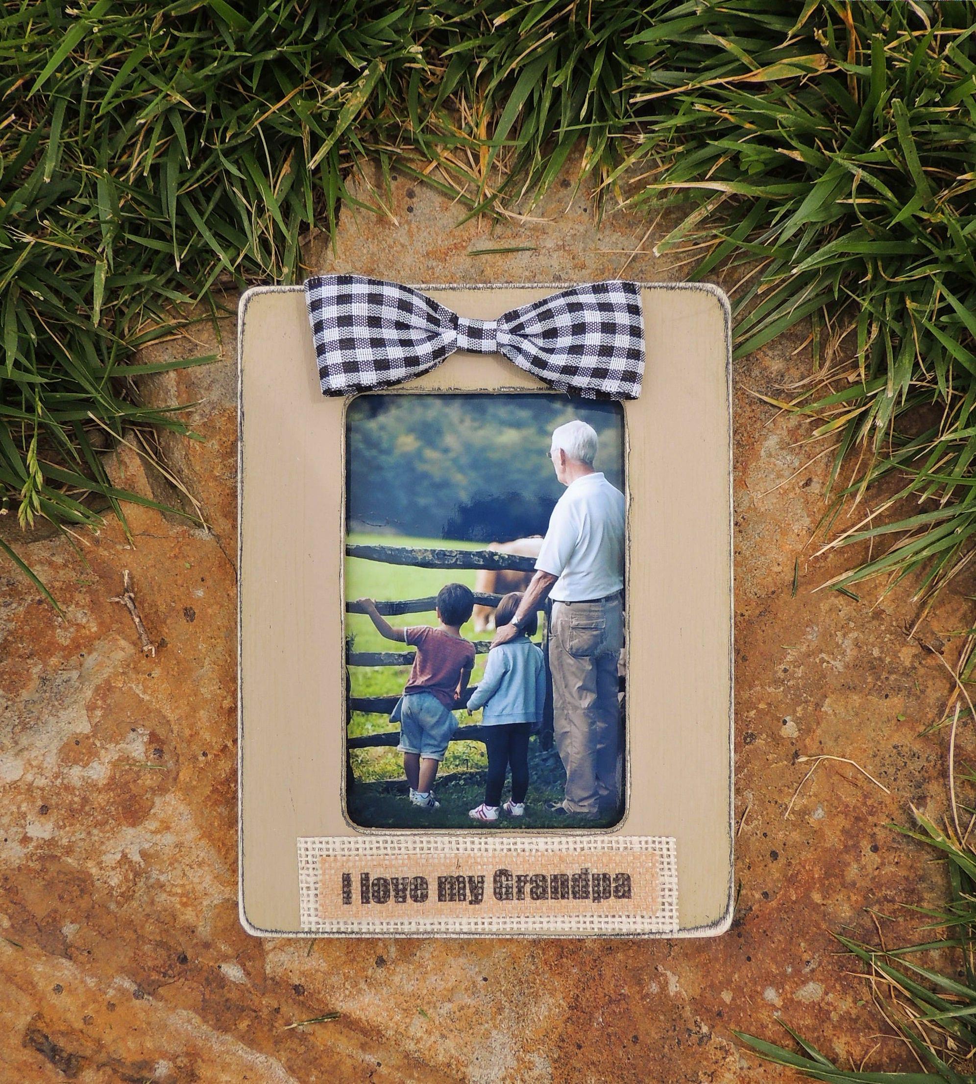 Father S Day Picture Frame Gift Grandpa I Love My Grandpa