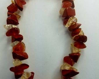 Creativity Crystal Bracelet (Carnelian, Citrine, Red Jasper)