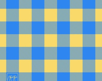 Yellow and Blue Plaid Patch
