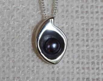 Purple Pearl 925 Silver Pendant