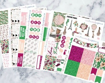 J'adore Paris // Weekly Planner Stickers // Erin Condren