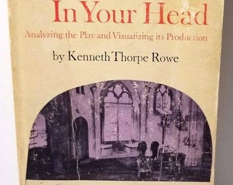 Vintage 1967 A Theater In Your Head Kenneth Thorpe Rowe Paperback