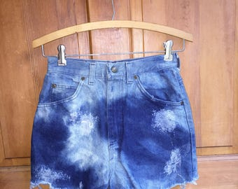 90s Vintage High Waist Denim Jean Shorts