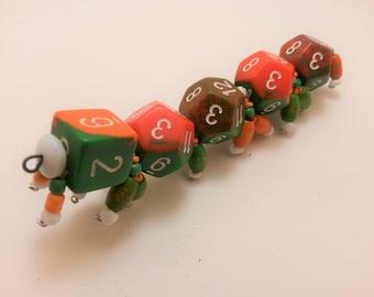 Orange and Green D12 Caterpillar