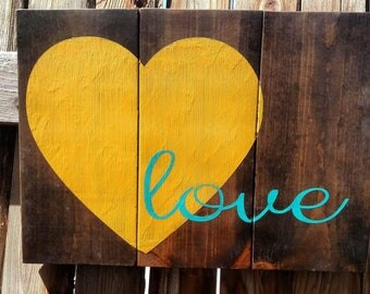 Love, Hand Painted Wood Sign